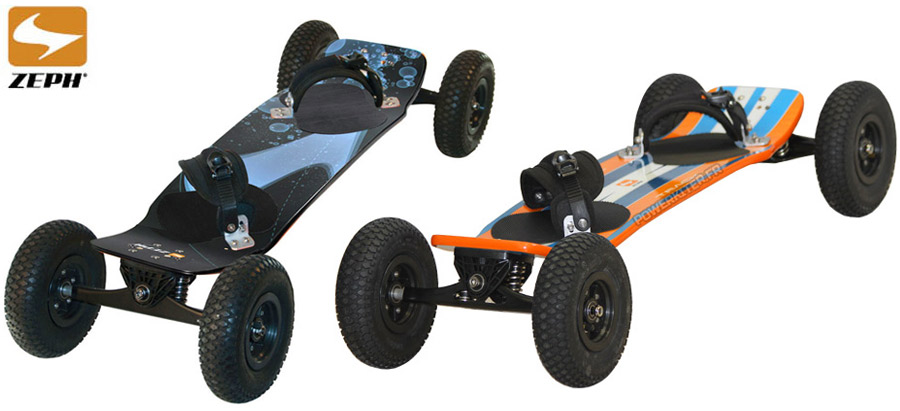 Mountainboard Zeph Track noir et orange